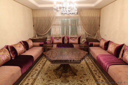 salon marocain traditionnel model 1