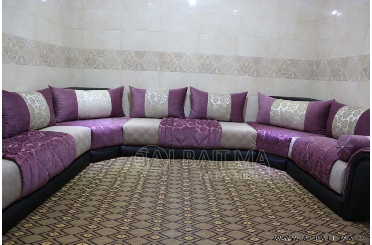 Stunning salon marocain mauve et beige pictures awesome for Salon marocain nimes